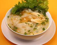 Glass noodle chicken soup thai style Royalty Free Stock Image