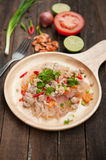 Glass Noodle Pork Nut Spicy Salad. Yum Woon Sen Royalty Free Stock Images