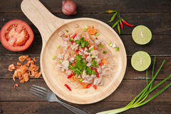 Glass Noodle Pork Nut Spicy Salad. Yum Woon Sen Royalty Free Stock Image