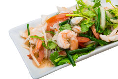 Glass noodle with seafood Stock Images