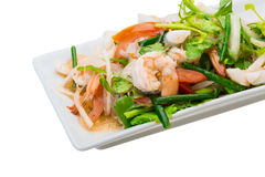 Glass noodle with seafood Royalty Free Stock Photography