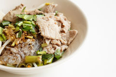 Glass noodles with pork Stock Photos