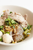 Glass noodles with pork Royalty Free Stock Photography