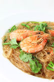 Glass Noodles steamed with Prawns Royalty Free Stock Photography