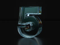 Glass number five Royalty Free Stock Image