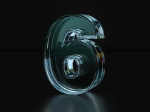 Glass number six Royalty Free Stock Image