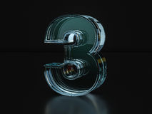 Glass number three Royalty Free Stock Photography