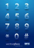 Glass numbers Royalty Free Stock Photography