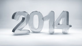2014 year glass texture Royalty Free Stock Photos