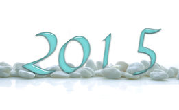 2015, glass numbers Royalty Free Stock Photos