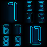 Glass numbers from zero to nine Stock Image