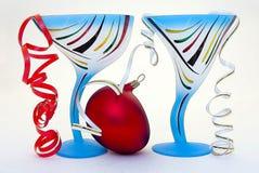 glass nya övre år för bollblueclose Fotografering för Bildbyråer