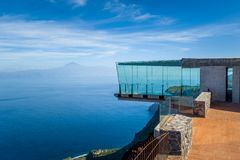 Glass observation tower at mountains. La Gomera Royalty Free Stock Image