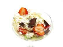 Glass och choklad royaltyfri foto
