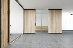 Glass och trävindkontorslobby Fotografering för Bildbyråer