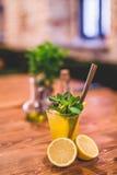 Glass od fresh lemonade. Royalty Free Stock Photos