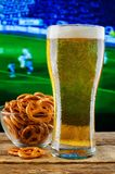 Glass Of Beer And Snack