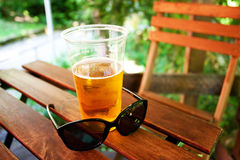 Free Glass Of Beer And Sunglasses Royalty Free Stock Photo - 19814755