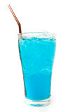 Glass Of Blue Drink Stock Image