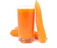 Glass Of Juice With Carrot Stock Images