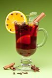 Glass Of Mulled Wine Royalty Free Stock Image