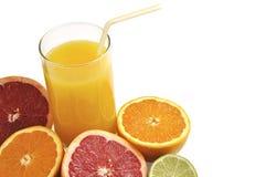 Glass Of Orange Juice With Fresh Fruits. Stock Image