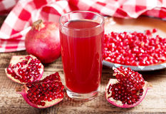 Free Glass Of Pomegranate  Juice With Fresh Fruits Stock Photos - 50008293
