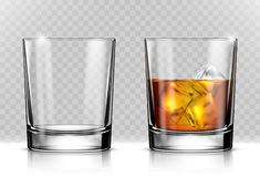 Free Glass Of Scotch Whiskey And Ice Stock Image - 125240271