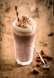 Glass Of Thick Creamy Coffee Milkshake Royalty Free Stock Photo