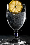 Glass Of Water With Lemon Royalty Free Stock Photos