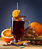 Glass off mulled wine Stock Image