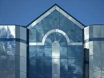 Glass Office Building with Triangle Point Royalty Free Stock Photos