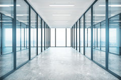 Glass office Royalty Free Stock Image