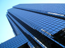 Glass Office Tower, Angled. Angled view of tower on State Street in Boston Stock Photography