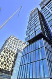 Glass office twin towers Royalty Free Stock Images