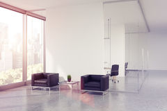 Glass office waiting area, toned Royalty Free Stock Photography