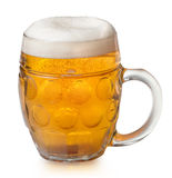 Glass og lager beer Stock Image