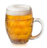 Glass og lager beer Stock Image