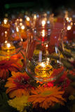 Glass oil lamp Stock Image