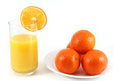 Glass of OJ with Fruit Royalty Free Stock Photos