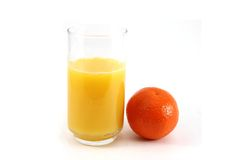 Glass of OJ with Fruit Stock Image