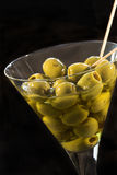 Glass of olives Stock Photos