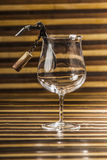 Glass and opener bottle Stock Images