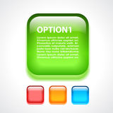 Glass option button Royalty Free Stock Photos