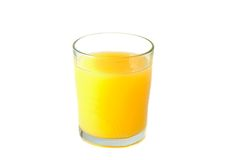 Glass of orange juice Stock Images
