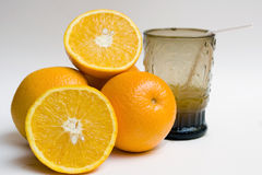 And glass of orange juice Stock Photo
