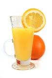 Glass of an orange juice Stock Image