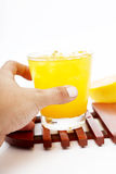 Glass with orange juice Royalty Free Stock Image