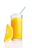 Glass of Orange juice Stock Photos