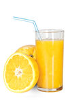 Glass with orange juice Stock Images
